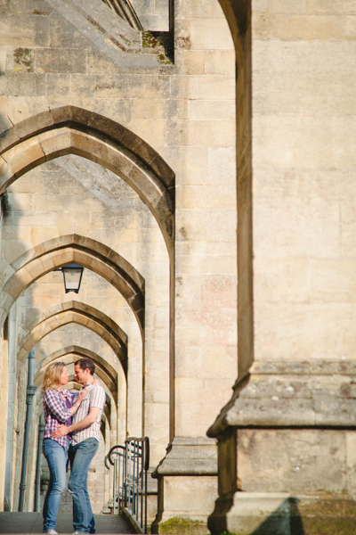 couple by the cathedral
