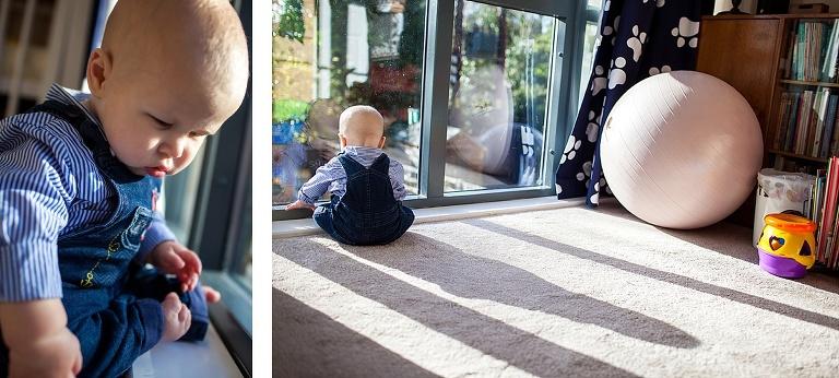 Little boy by a window