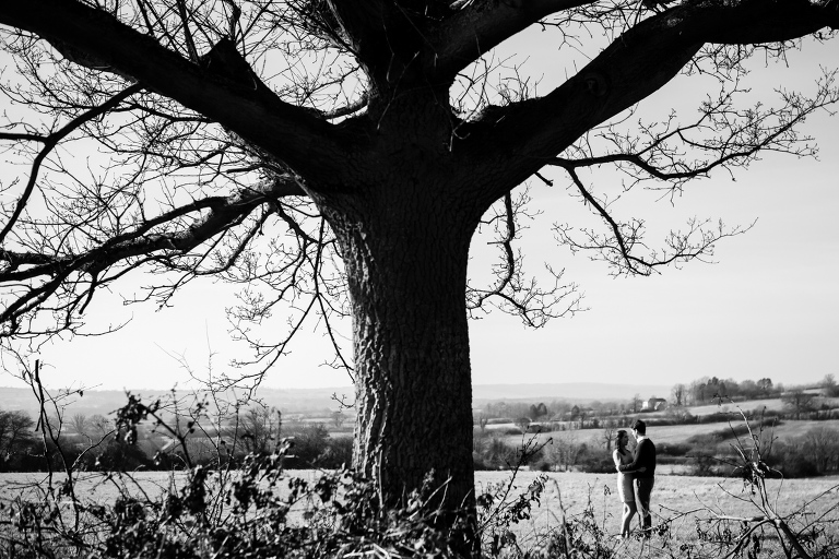 Couple by old tree